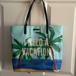 """Kate Spade """"I Need A Vacation"""" Tote Handbag"""